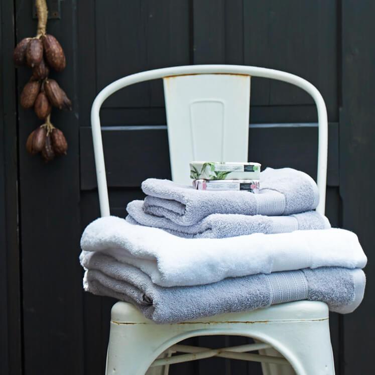 Grace, Handtuch, Badetuch, Duschtuch, Bamboo, weiß, grau, Set