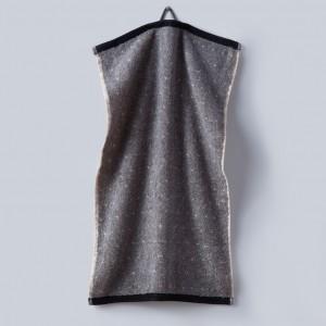 Grace, Handtuch, Gästehandtuch, Punkte, schwarz, grau, weiß