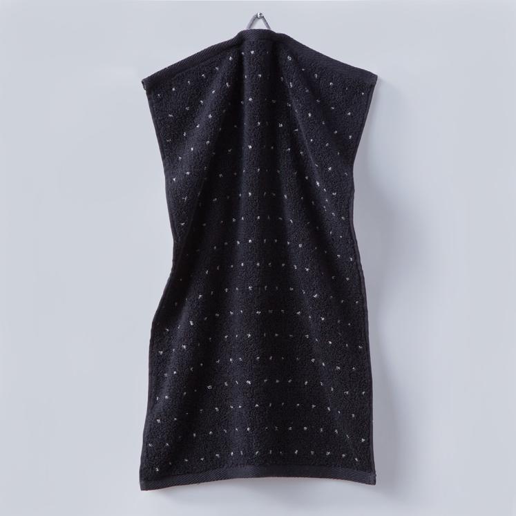 Grace, Handtuch, Gästehandtuch, Punkte, schwarz, weiß