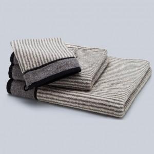 Grace, Handtuch, Badetuch, Gästehandtuch, Waschhandschuh, Waschlappen, Set, Stapel, Classic, Streifen, schwarz, weiß, grau