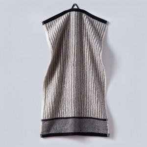 Grace, Handtuch, Gästehandtuch, Streifen, schwarz, grau, weiß