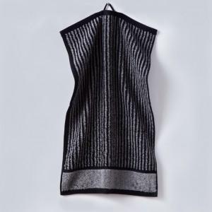 Grace, Handtuch, Gästehandtuch, Streifen, schwarz, grau