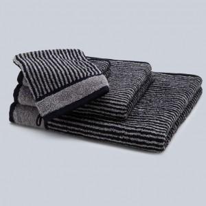 Grace, Handtuch, Badetuch, Gästehandtuch, Waschhandschuh, Waschlappen, Set, Stapel, Classic, Streifen, schwarz, weiß