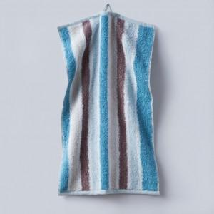 Grace, Premium, Handtuch, Gästetuch, Stapel, Streifen, braun, beige, blau, weiß