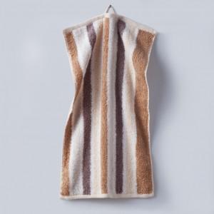 Grace, Premium, Handtuch, Gästetuch, Stapel, Streifen, braun, beige, weiß