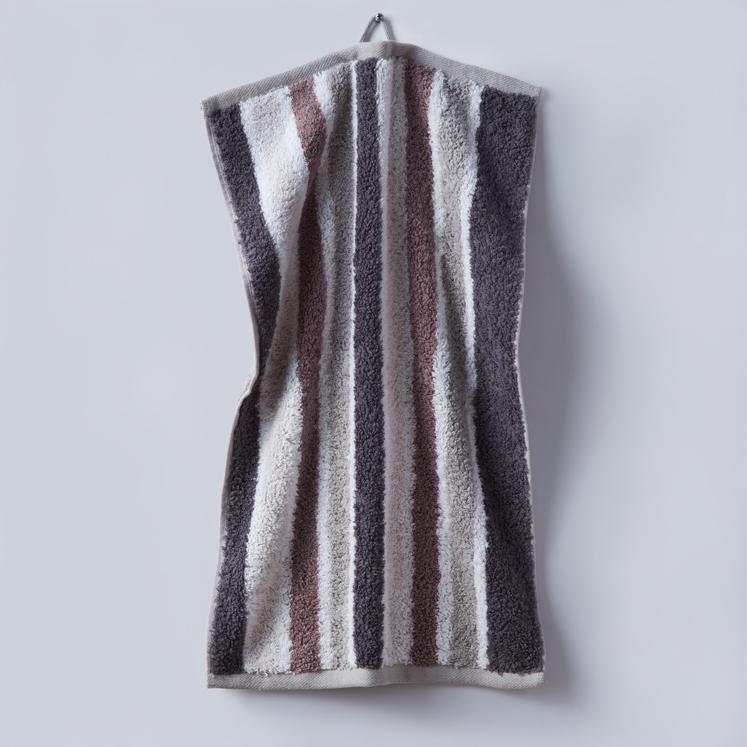 Grace, Premium, Handtuch, Gästetuch, Stapel, Streifen, braun, beige, grau, weiß