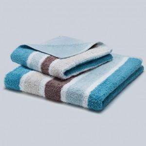 Grace, Premium, Handtuch, Duschtuch, Badetuch, Stapel, Streifen, braun, beige, blau, weiß