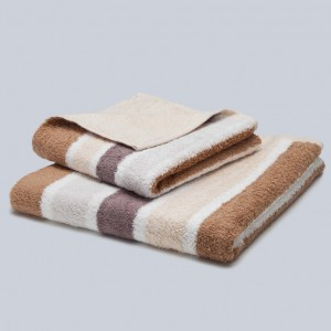 Grace, Premium, Handtuch, Duschtuch, Badetuch, Stapel, Streifen, braun, beige, weiß