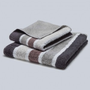 Grace, Premium, Handtuch, Duschtuch, Badetuch, Stapel, Streifen, braun, beige, grau, weiß