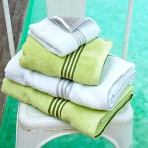Grace, Badetuch, Handtuch, Sport, weiß, grau, grün