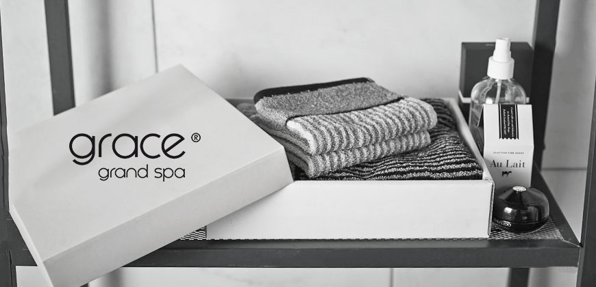 Grace, Streifen, Handtuch, Duschtuch, Set, schwarz, grau, weiß