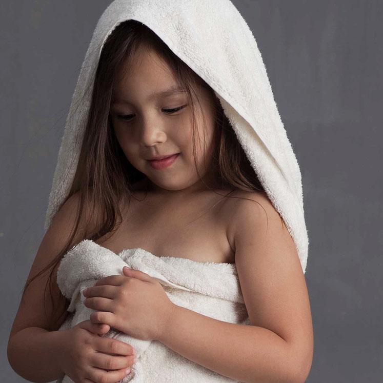 Grace, Handtuch, Badetuch, Kinder, weiß