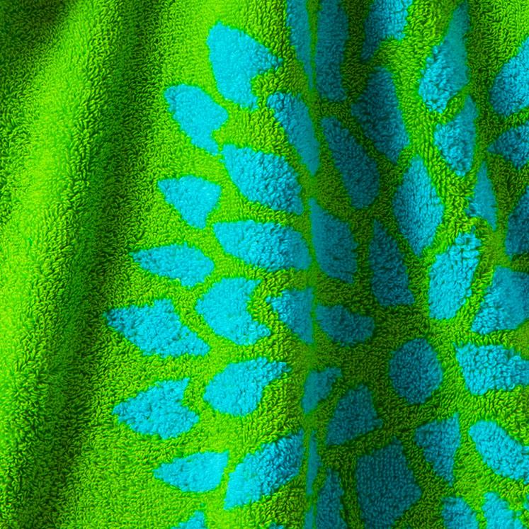 Handtuch, Badetuch, blau, Muster, grün, türkis, Strandtuch