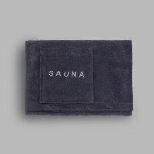 Grace, Sauna, Handtuch, Kilt, Knöpfe, dunkelgrau
