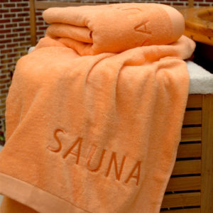 Grace, Handtuch, Sauna, Saunahandtuch, orange