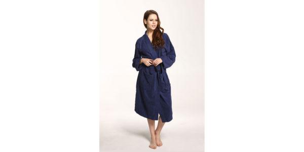 Bademantel Kimono 7804 12 365 Angezogen Dunkelblau